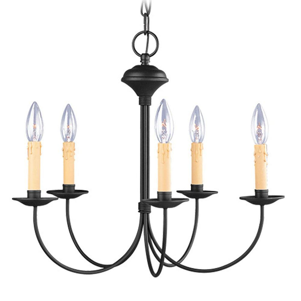 Providence 5 Light Black Incandescent Chandelier