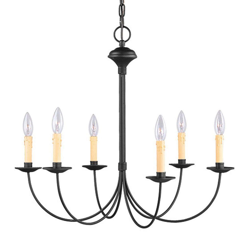 Providence 6 Light Black Incandescent Chandelier