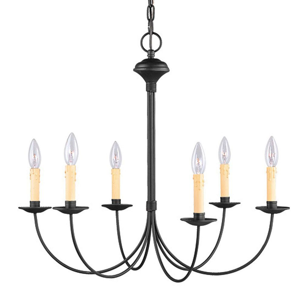 Providence 6-Light Black Chandelier