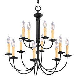 Illumine Providence 8 Light Black Incandescent Chandelier