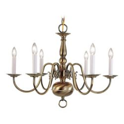 Illumine Providence 6-Light Antique Brass Chandelier