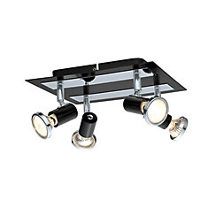 Rotello Ceiling Light 4L, Black and Chrome Finish