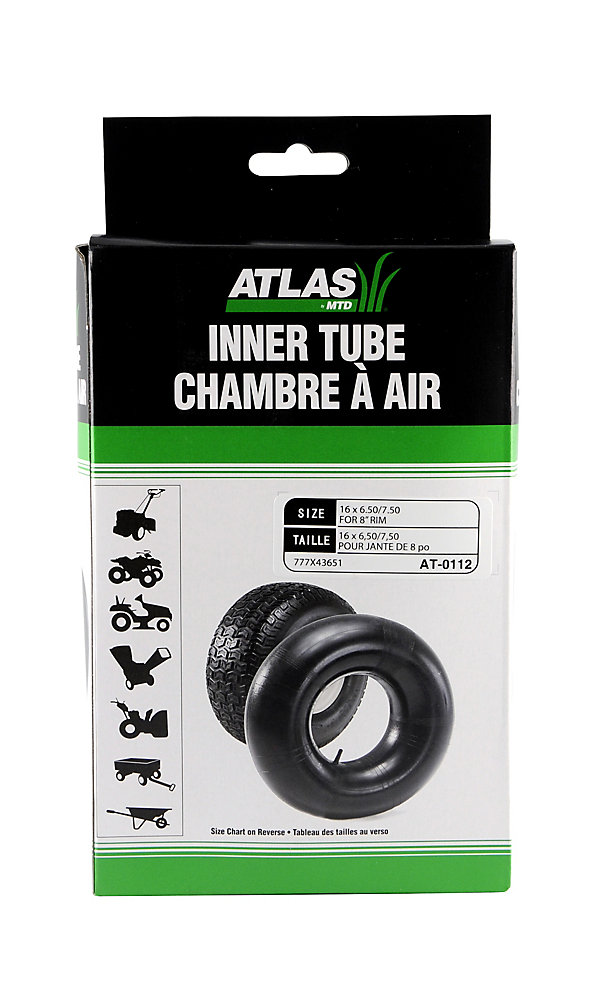 Inner Tube for Tire Sizes 16 x 6 50-8 and 16 x 7 50-8