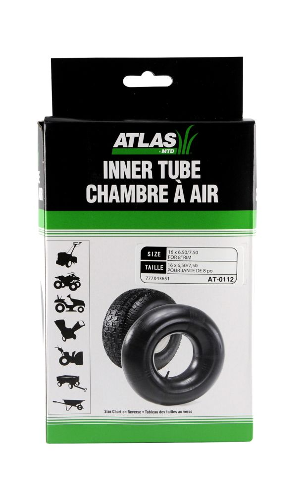 Inner Tube for 16 x 6.50-8 and 16 x 7.50 - 8 Tires