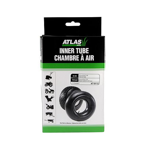 Atlas Inner Tube for Tire Sizes 16 x 6.50-8 and 16 x 7.50-8