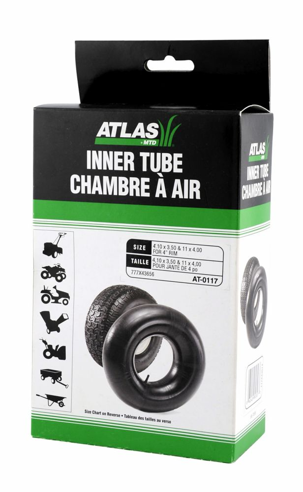 Inner Tube Used On Tire Sizes 4.10 x 3.50 - 4 & 11 x 4.00 - 4 AT-0117 Canada Discount