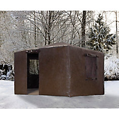 St. Paul 10 ft. x 12 ft. Winter Cover in Brown