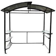 5 ft. x 8 ft. BBQ Shelter with Polycarbonate Top and Steel Frame