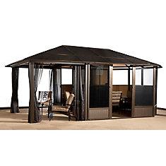 Veranda 13 ft. x 20 ft. Solarium with Sun Shelter Extension in Bronze