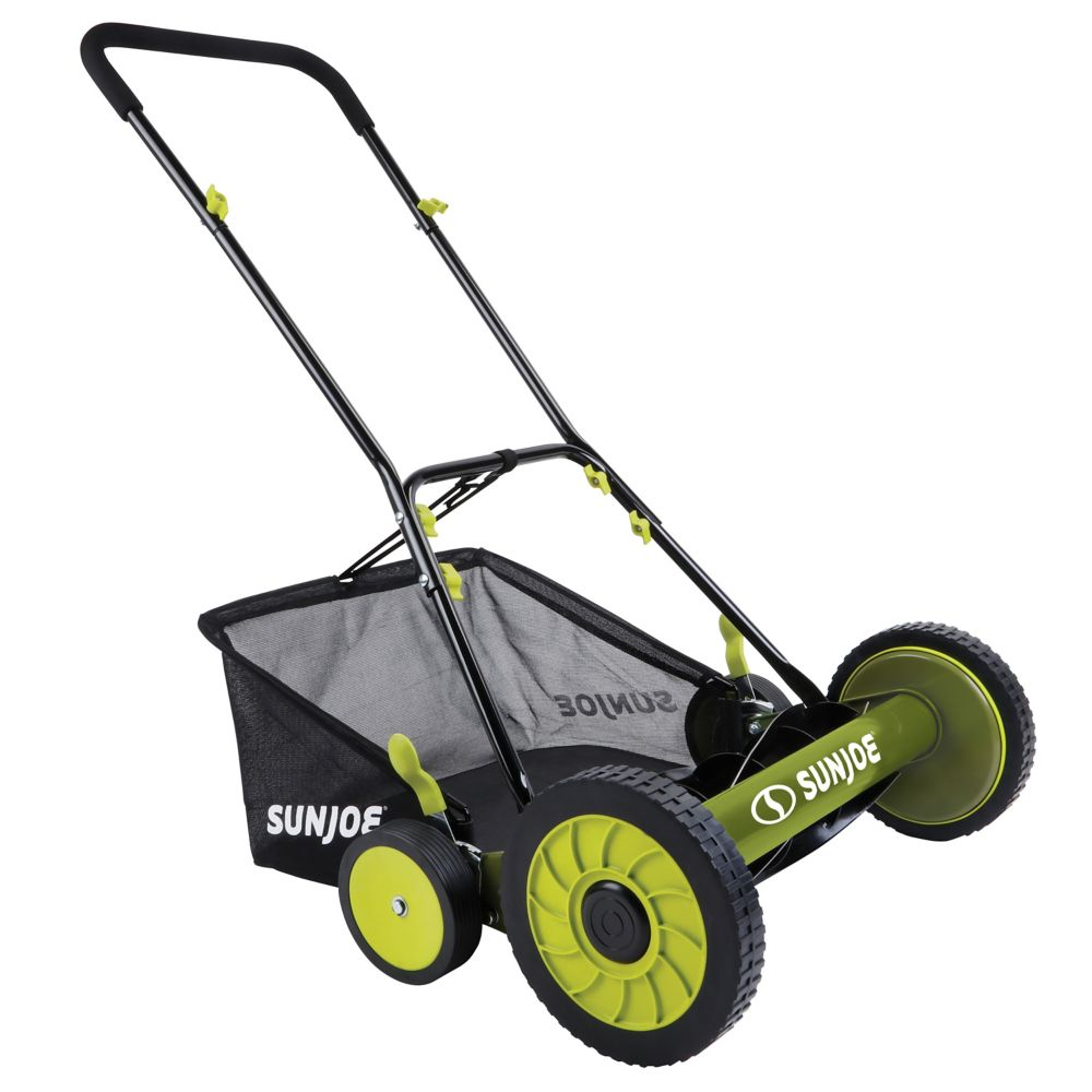 18-inch Mow Joe Manual Reel Mower with Grass Catcher