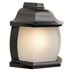 Snoc Avenue, Half Wall Mount, Frosted Glass Globe, Black