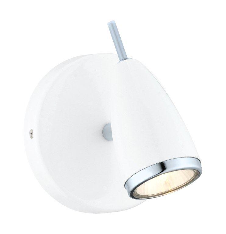 Riccio Wall Light 1L, High Gloss White and Chrome Finish 200312A Canada Discount