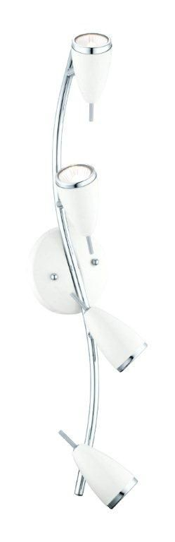 Riccio Track Light 4L, High Gloss White and Chrome Finish
