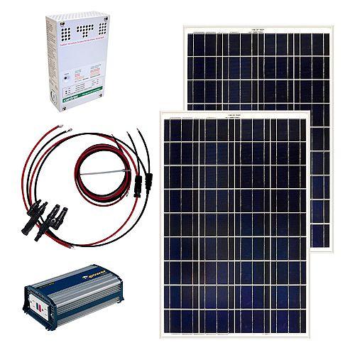 Grape Solar Ensemble de panneaux solaire autonome 200 W