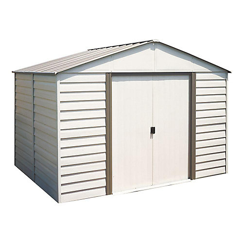 Vinyl Coated Metal Shed  (10 Ft. x 8 Ft.)