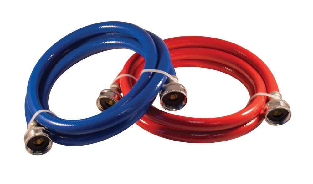 72 Inch PVC Blue/Red 3/8x3/8 Dishwasher Connector 2 Pack