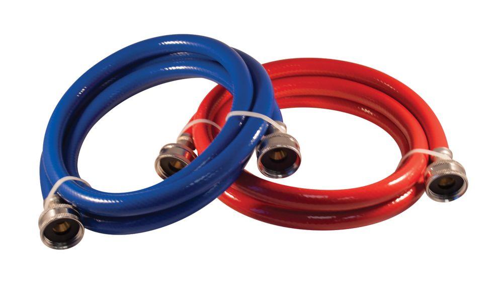 Flex Connector Pvc 72i Wash Machine 2-Pack Red Blue
