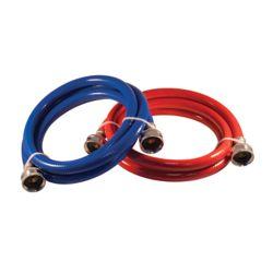 Aqua-Dynamic Flex Connector Pvc 72i Wash Machine (2-Pack) Red Blue