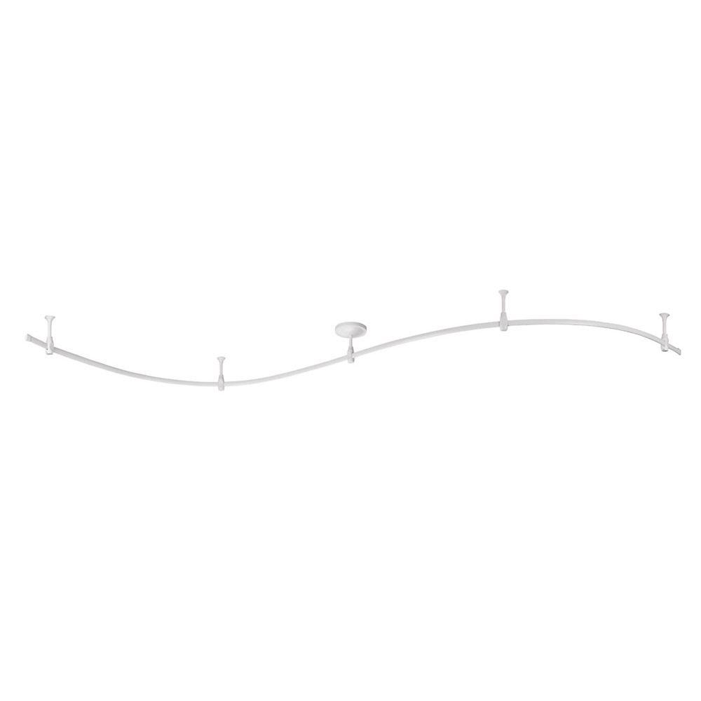 Hampton Bay 10 Feet White Flex Track Starter Kit