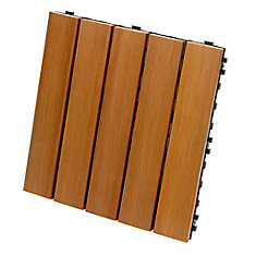 12-inch x 12-inch Deck and Balcony Tile in Cedar (10-Pack)