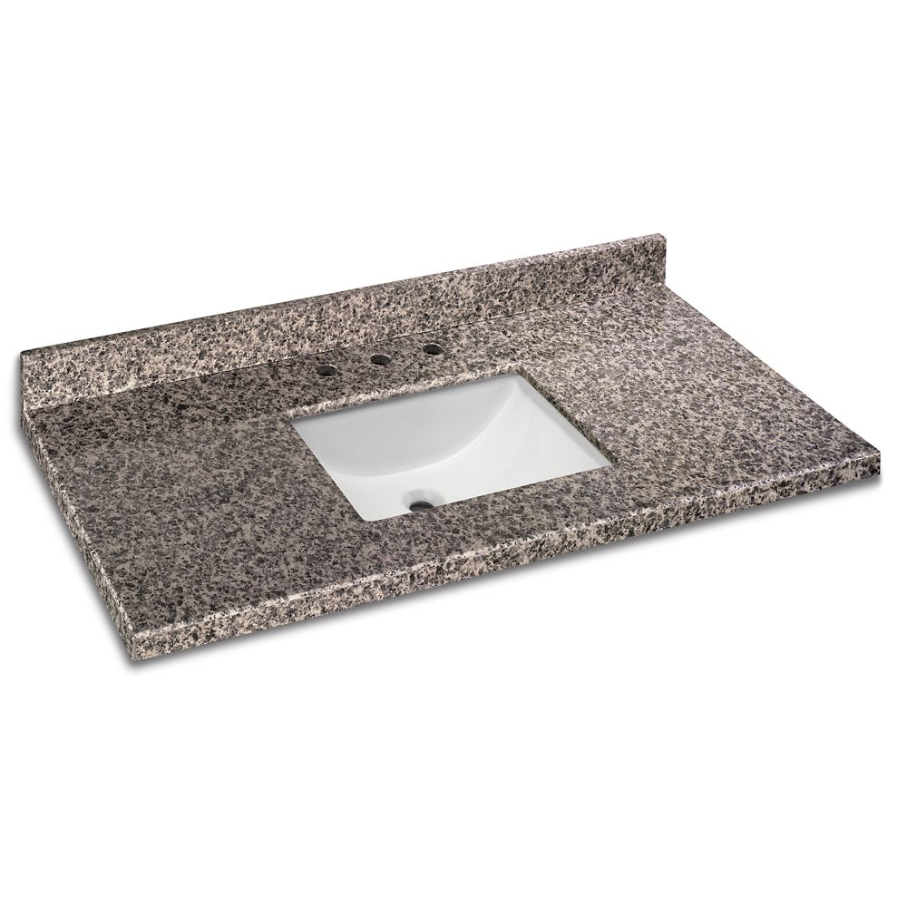 49 Inch x 22 Inch Sircolo Granite Vanity Top with Trough Bowl