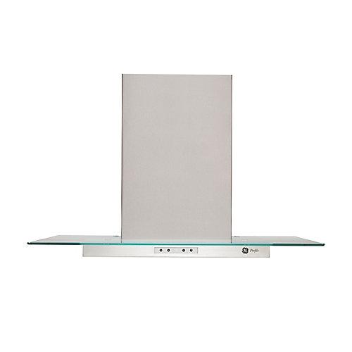 "30"" Chimney Range Hood in Stainless Steel/Glass"