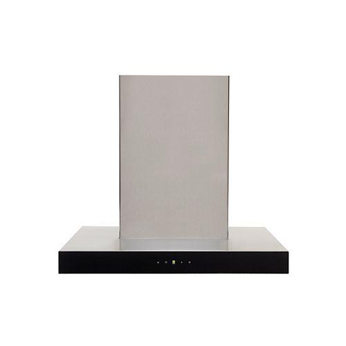 GE 24-inch W, 600 CFM Designer Wall Mount Range Hood in Stainless Steel