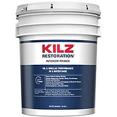 KILZ - MAX Apprêt, bouche-pores et bloque-taches intérieur à base d'eau, 18,93 L