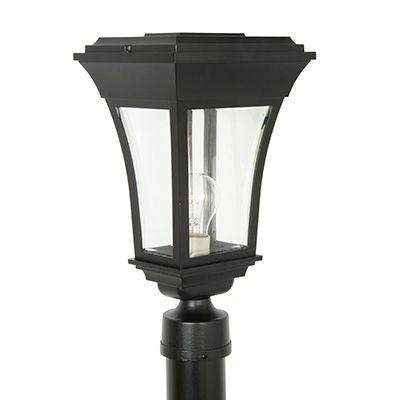 Accord, luminaire sur poteau, panneaux de verre biseauté clair, noir (poteau non-inclus)