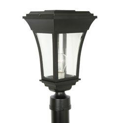 Snoc Accord, luminaire sur poteau, panneaux de verre biseauté clair, noir (poteau non-inclus)
