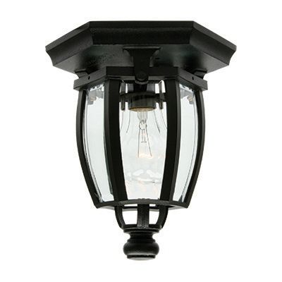 Vintage III Series, Black With Clear Beveled Glass Panels, Ceiling Mount 81400BK in Canada