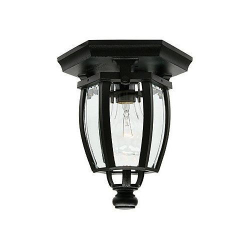 Vintage III Series, Black With Clear Beveled Glass Panels, Ceiling Mount