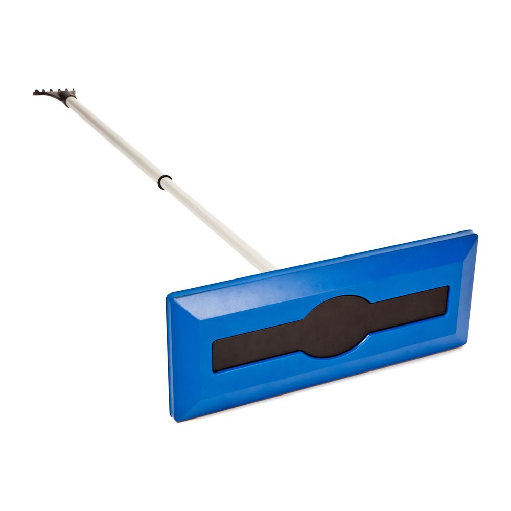Foam Head Non-Scratching Snow Broom With Ice Scraper and 48 Inch Reach