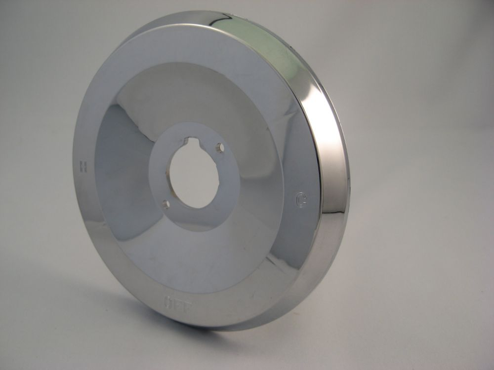Replacement Shower Escutcheon Plate, Fits MOEN - Chrome Plated POSI TEMP,  7 inch