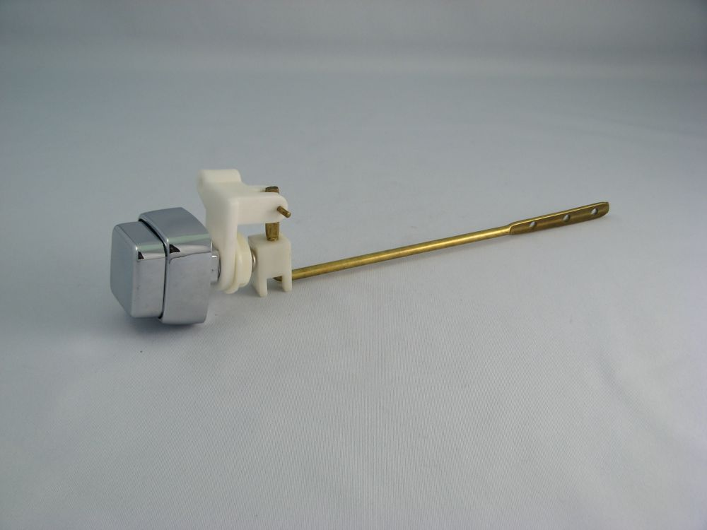Replacement for SIDE Mount PUSH BUTTON Toilet Lever, Metal, fits most Toilets, Chrome Square Butt...