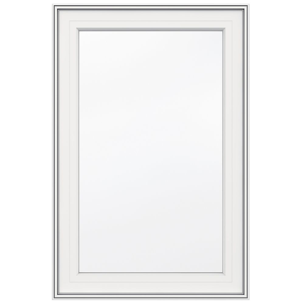 SOLENSIS 24 Inch X 36 Inch Vinyl Single Hung Window with 3 1/4 Inch ...