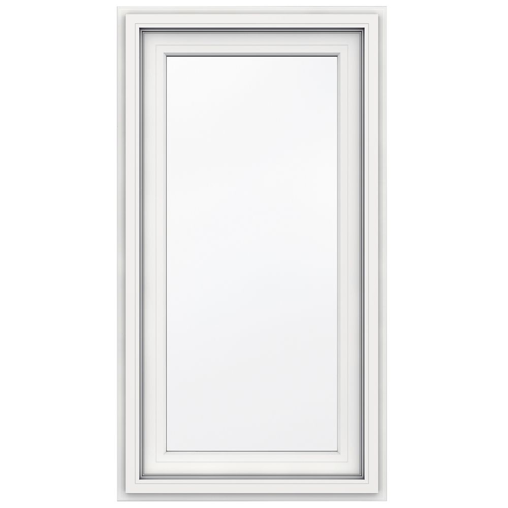 24-inch x 48-inch 5000 Series Vinyl Left Handed Casement Window with J Channel Brickmould