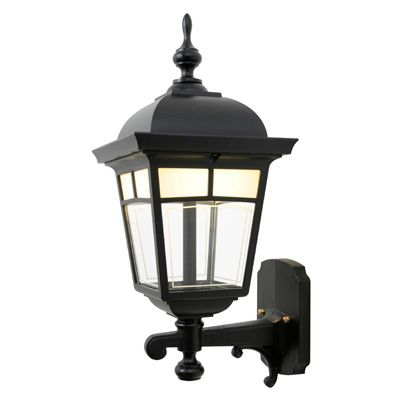 Imagine, Uplight Wall Mount, LED 7 Watts, Frosted Pattern Glass Panels, Black
