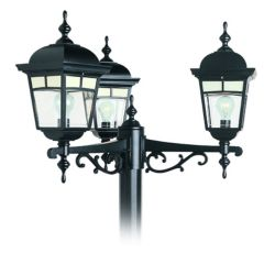 Snoc Imagine, Multihead LED 7 watts, Frosted Pattern Glass Panels, Black (pole not included)