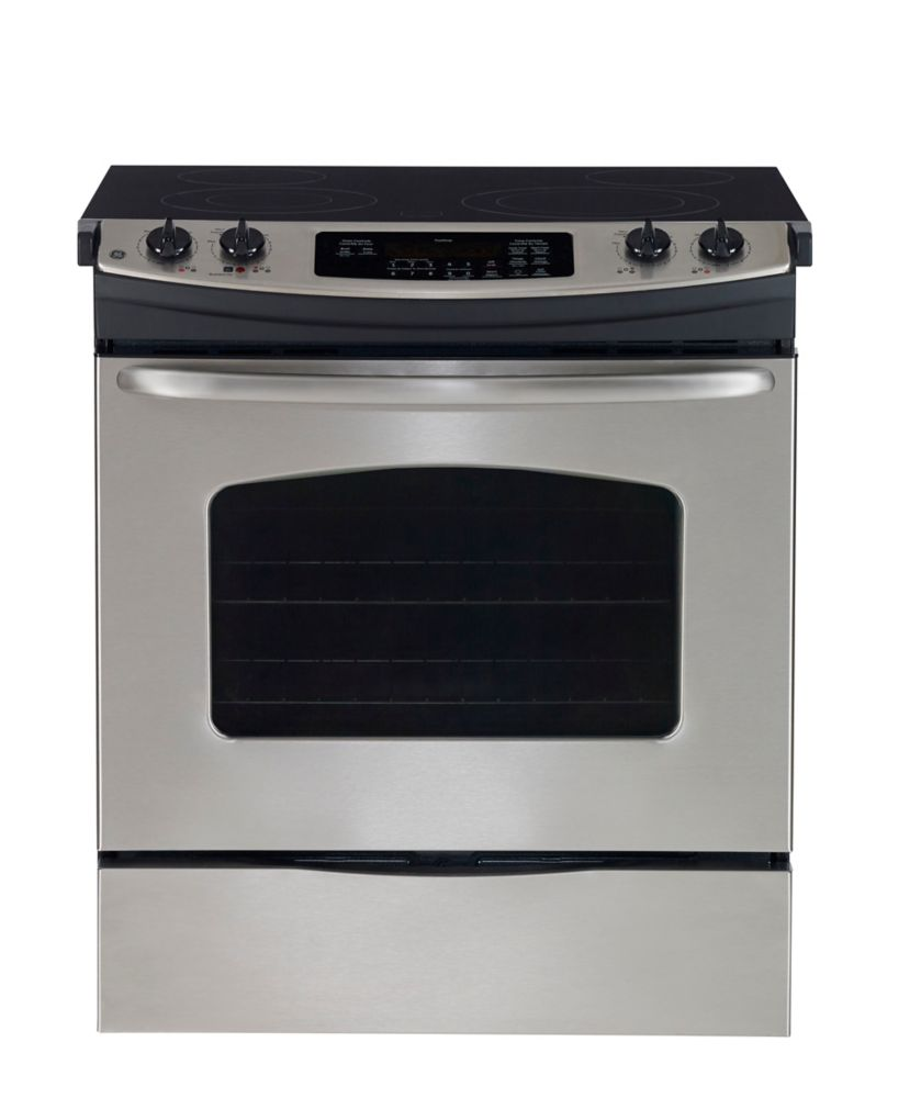 5.2 cu. ft. Slide-In Standard Clean Electric Range in Stainless Steel