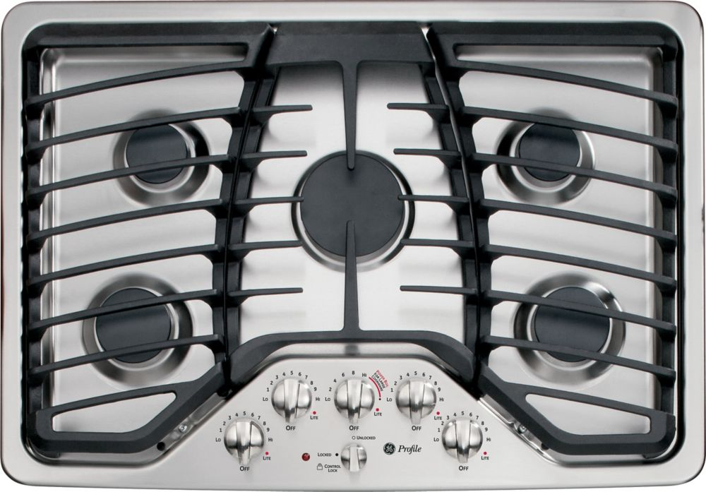 Profile 30-inch Built-In Gas Cooktop in Stainless Steel