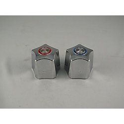 Jag Plumbing Products Replacement pair of Lavatory Faucet handles fit WALTEC Flotrol, metal finish