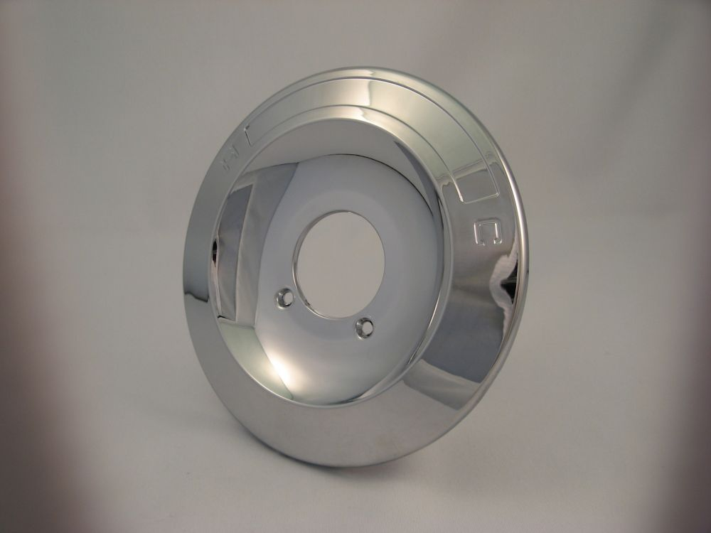 Replacement Shower Escutcheon Plate, Fits Delta - Chrome Plated 6 and 3/4 inch