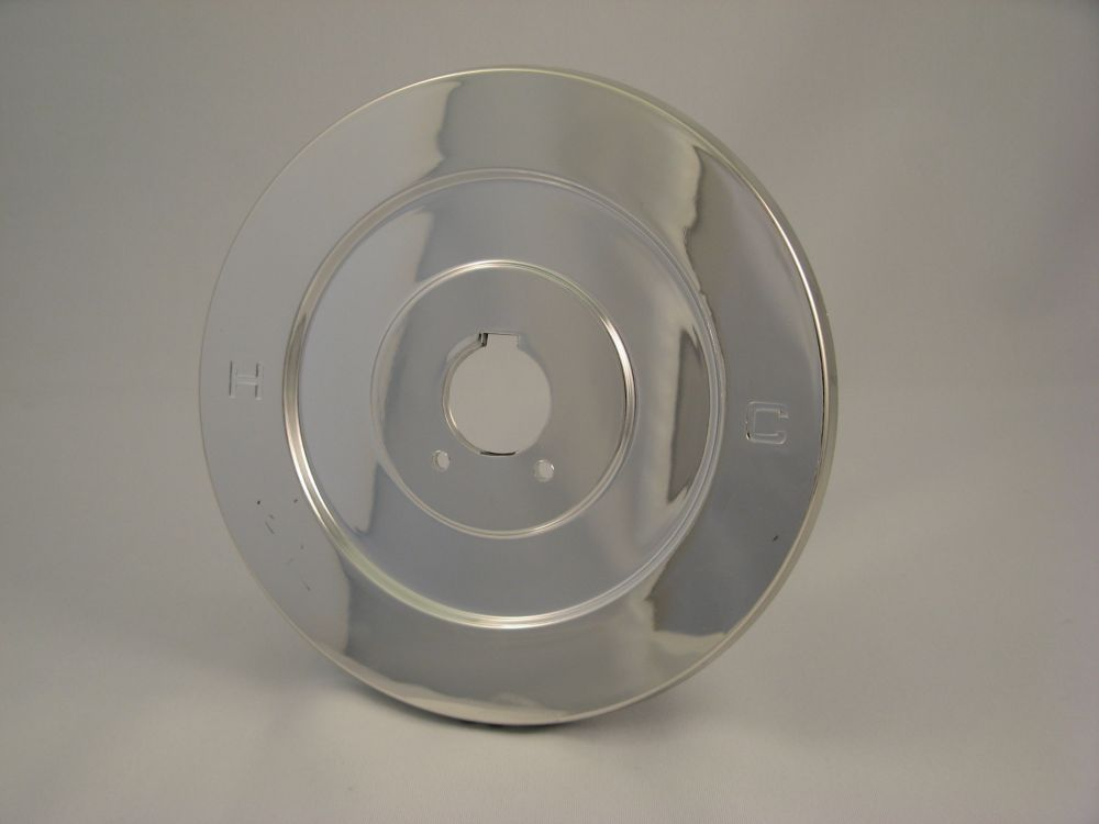Replacement Shower Escutcheon Plate, Fits MOEN - Chrome Plated Flat 7 inch