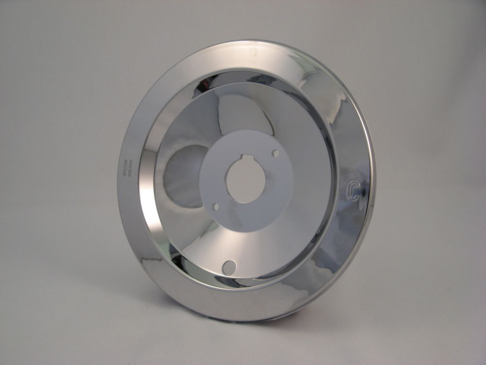 "Replacement Shower Escutcheon Plate, Fits MOEN - Chrome Plated Push Button ""New Style""  7 inch"