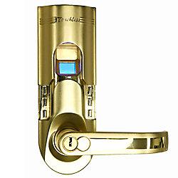 iTouchless Système de verrouillage de la porte par empreinte digitale iTouchless Bio-Matic de couleur or (poignée droite)