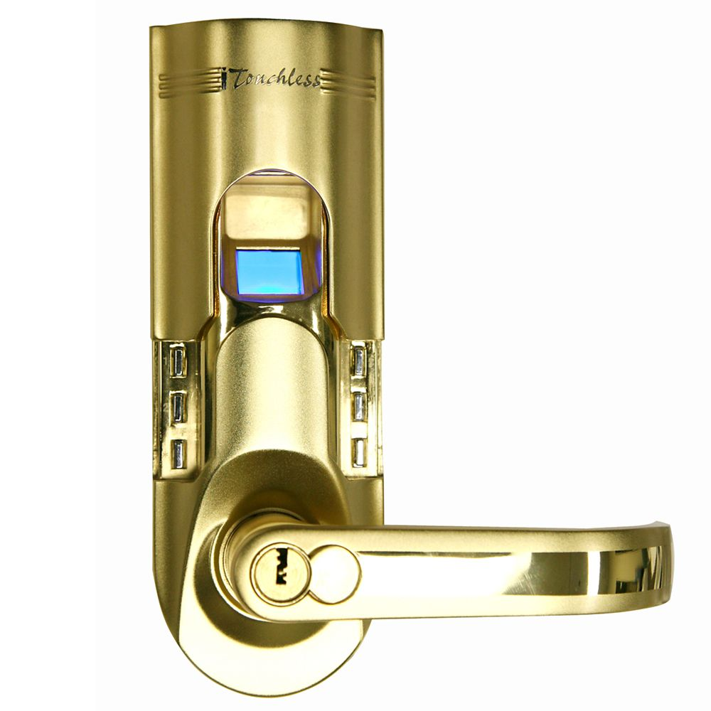 iTouchless Bio-Matic Gold Keyless Entry Righthand Fingerprint Lock