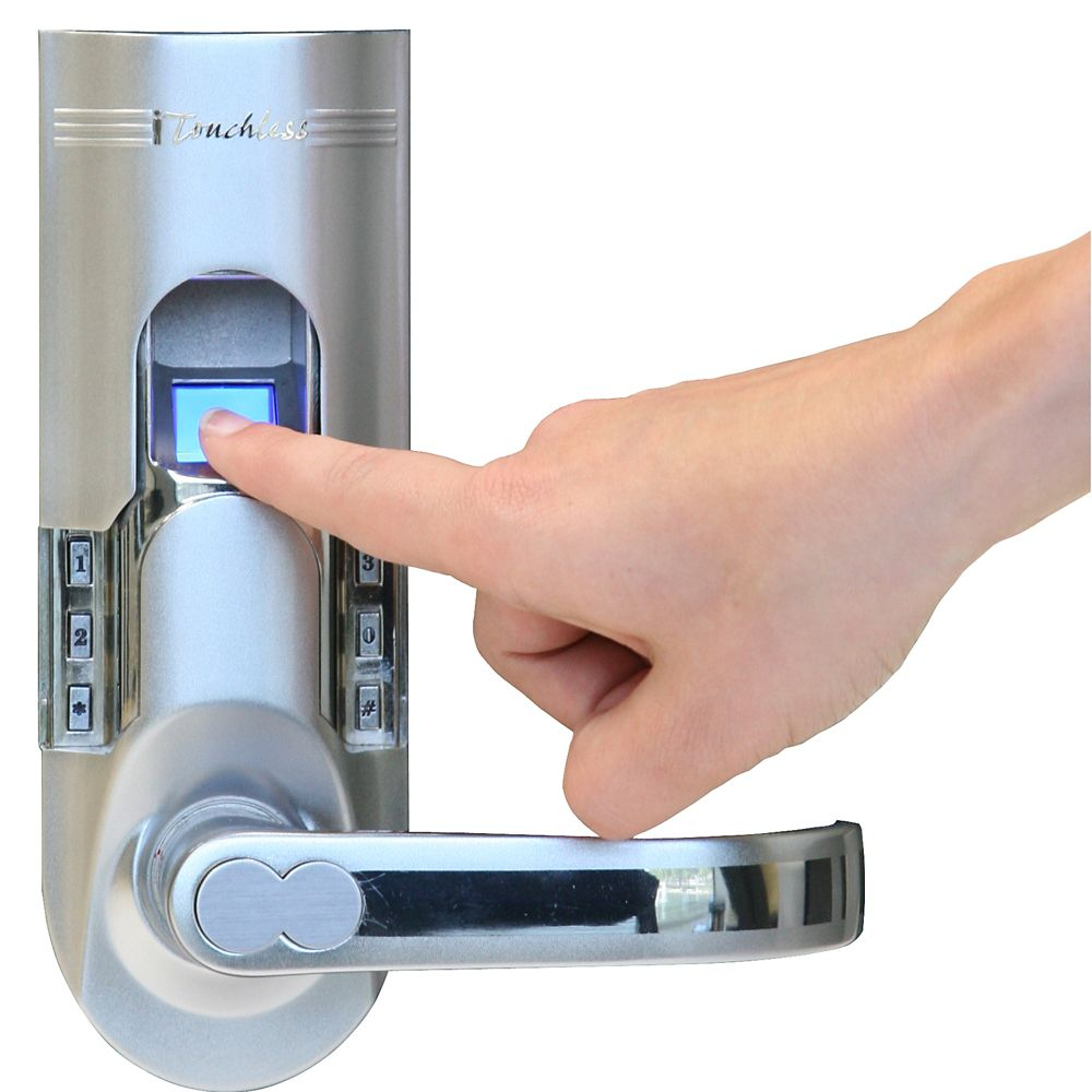 iTouchless Bio-Matic Silver Righthand Fingerprint Lock