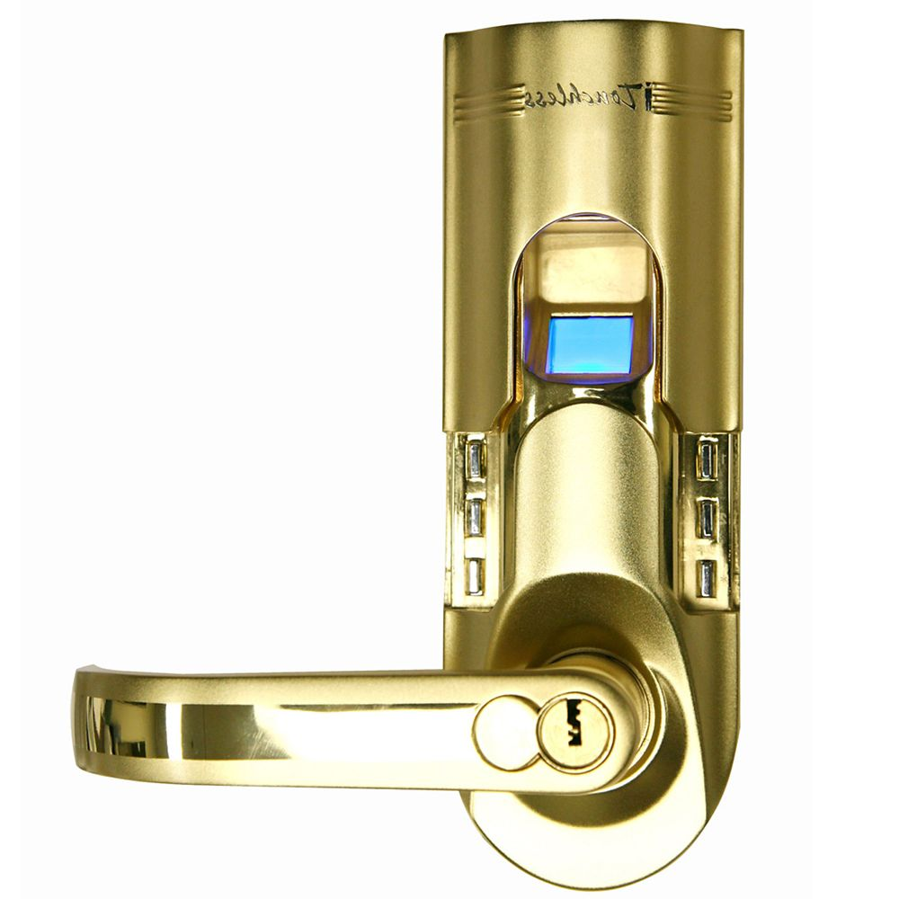 iTouchless iTouchless Bio-Matic Gold Lefthand Fingerprint Lock