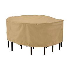 Housse pour ensemble de table ronde avec chaises de patio